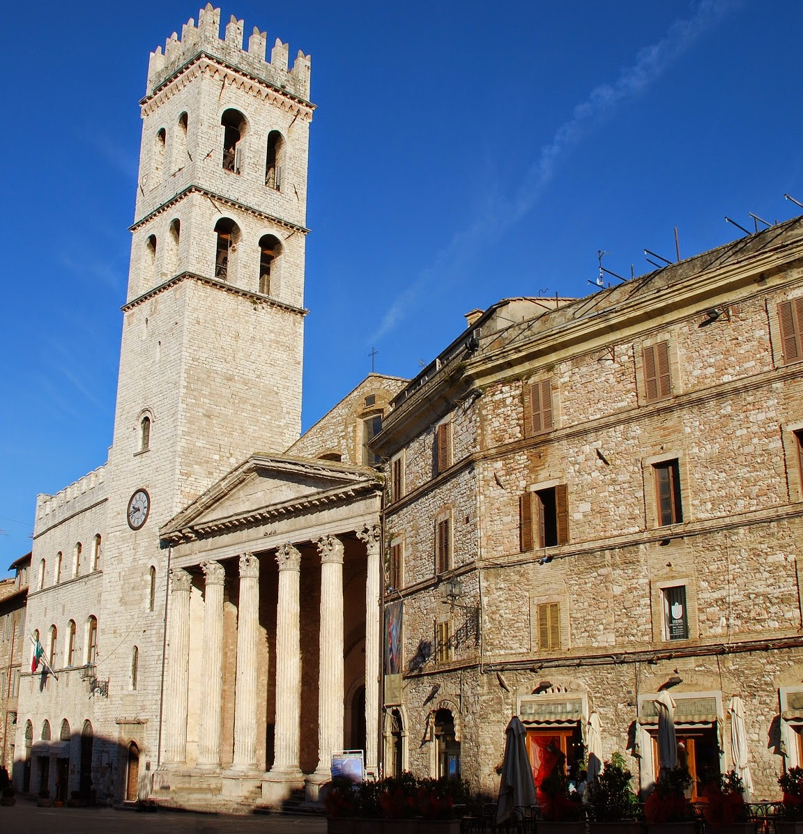 TheTemple of Minerva in the city of Assisi