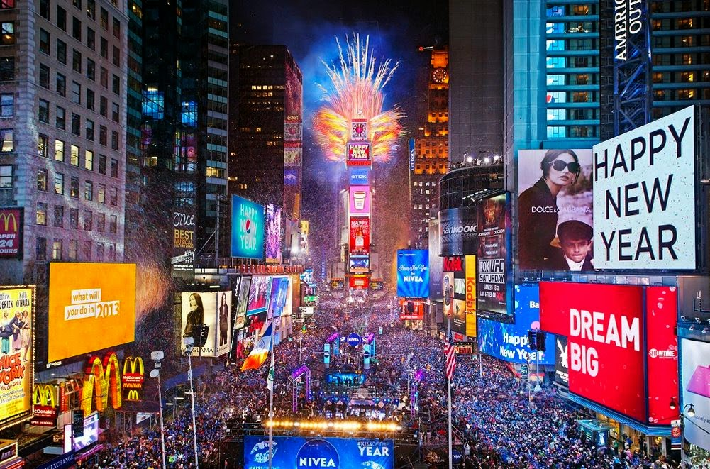 The show in Times Square, New York