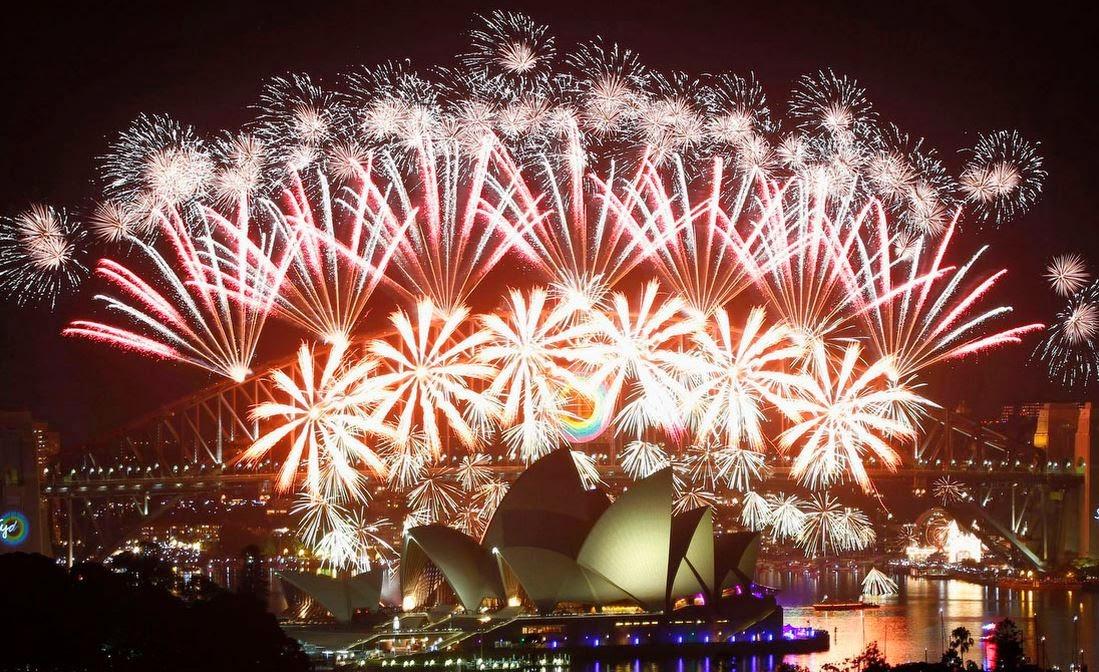Fireworks in Sydney Harbour
