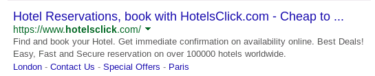 HTTPS connection for Hotelsclick.com