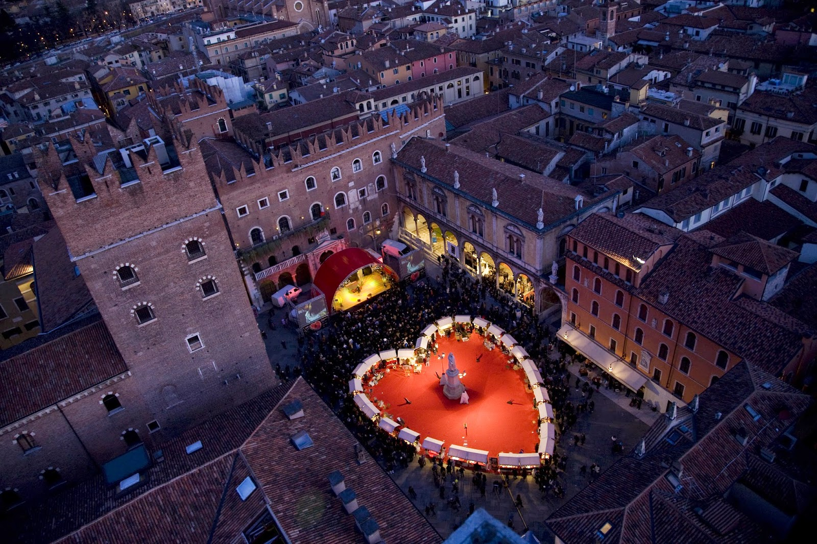 Valentine's Day in Verona, the city of Romeo and Juliet