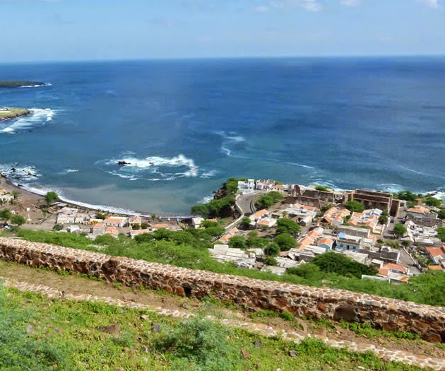 View of the Cidade Velha, Santiago island in Cabo Verde for Easter