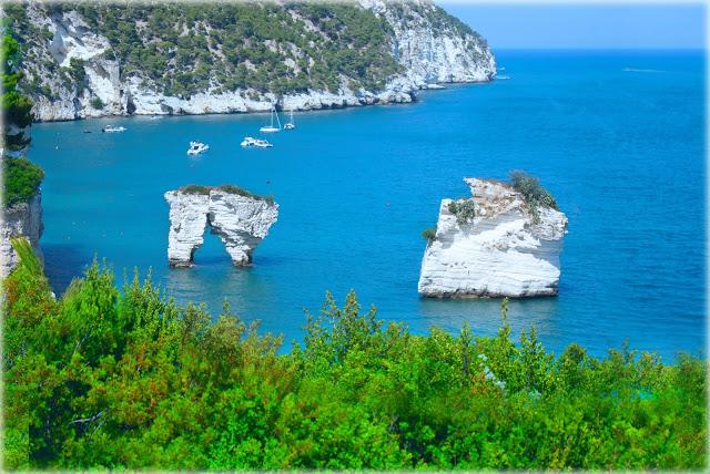 The stacks of Mergoli Bay, Mattinata-Vieste