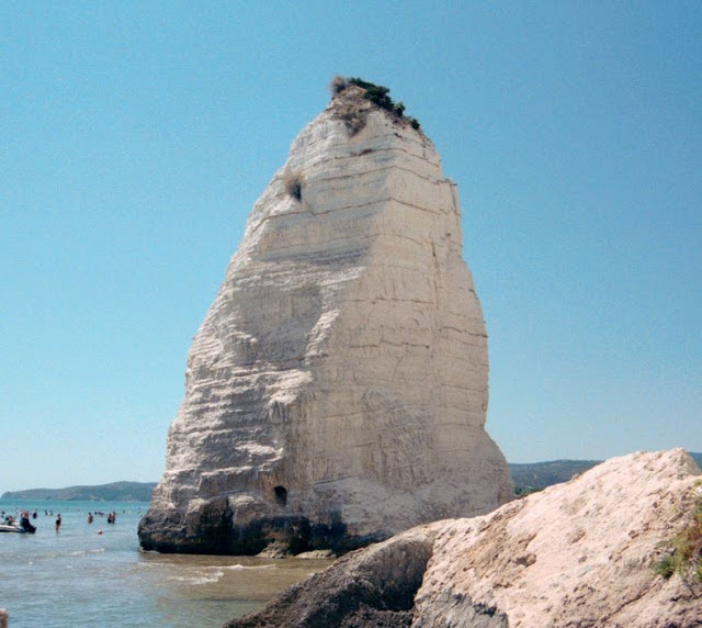 The monolith in the beach of Pizzomunno-Vieste