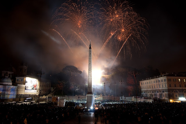 Fireworks in Rome, Italy