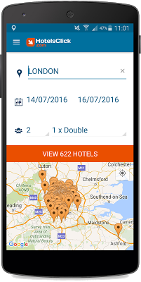 geolocalised research oh hotelsclick.com app