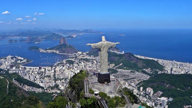 panoramic view of rio de janeiro, brazil