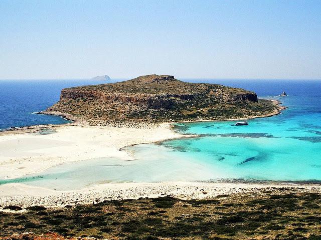 panoramic view of balos lagoon, crete, greece