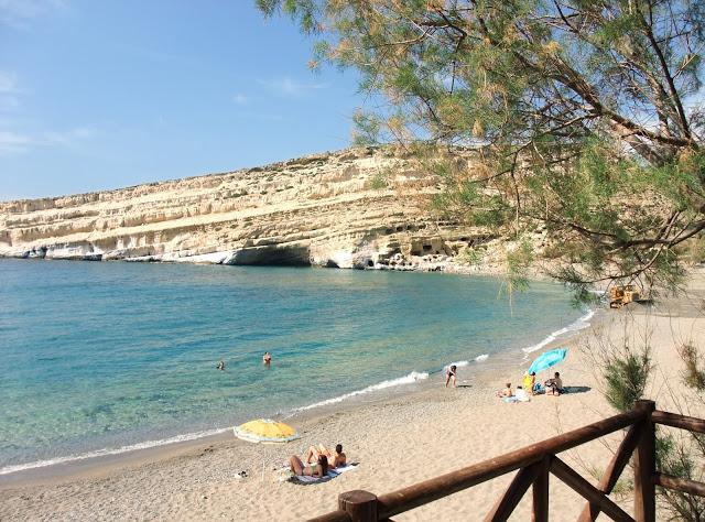 Matala beach, creete, greece
