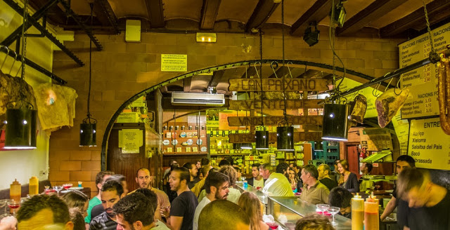 Can Paixano, one of the best tapas bars in barcelona, spain