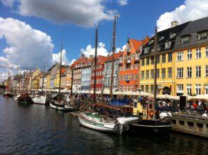 The port area of Nyhavn to see in Copenhagen