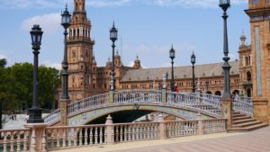 view of seville historic centre