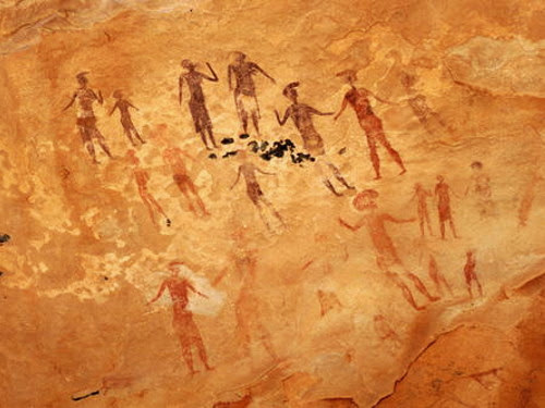 The Tassili plateau prehistoric drawings