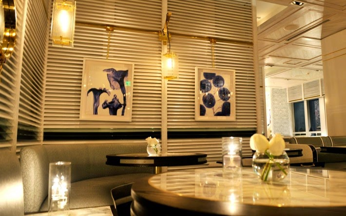 Scarpetta, one of the restaurants at the Fontainebleau Hotel