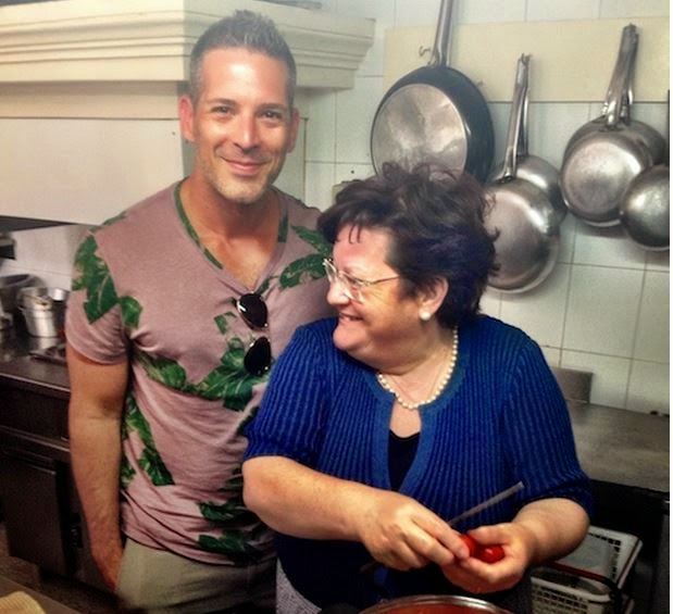 Carlos Melia in Puglia  and his cooking class with Bruna