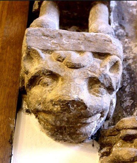 the Cheshire Cat in a church in North Yorkshire