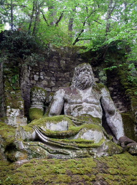 the fairy tale Park of the Monsters in Viterbo, Italy