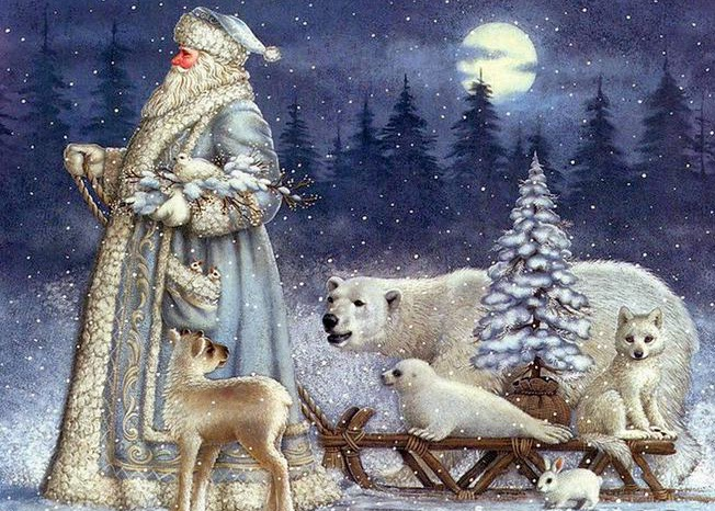 Epiphany day in Russia with Father Frost