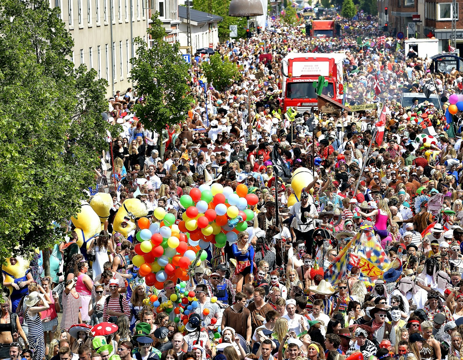 The celebration of the Carnival in Aalborg, Denmark 2015