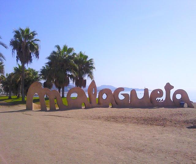 the famous Malagueta Beach in Malaga