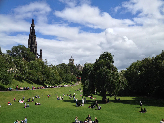 west princes street gardens in edinburgh