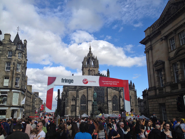 the famous Fringe Festival in edinburgh