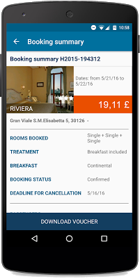 access to your reservation even offline on hotelsclick.com app