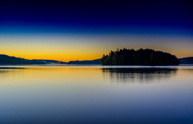 dawn over Delsjön Lake