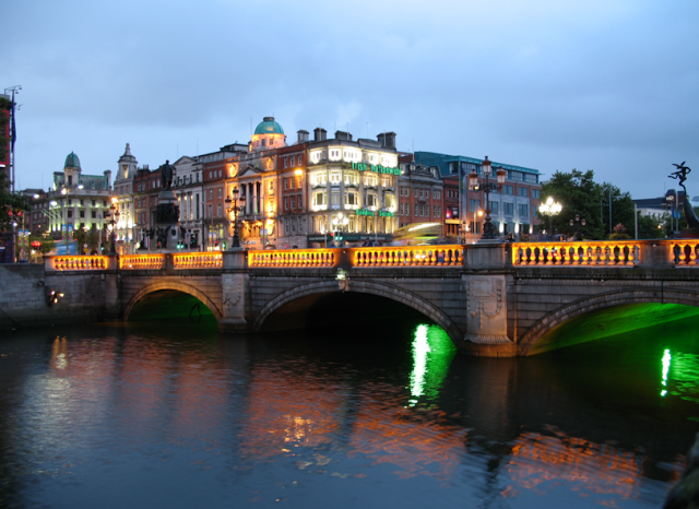 view of dublin by night