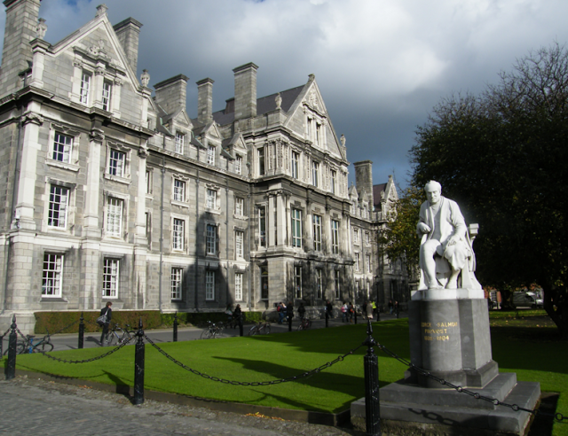 view of the Trinity College, Dublin