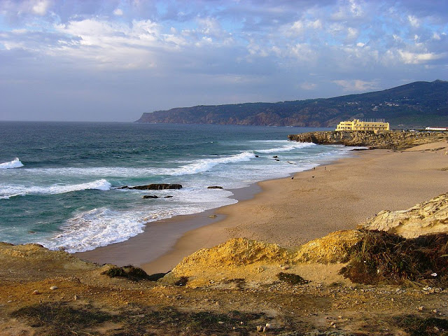 Guincho Beach in Cascais, portugal