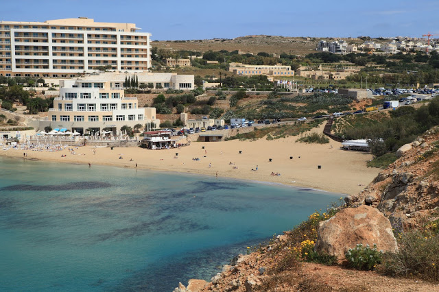 view of the golden bay, malta