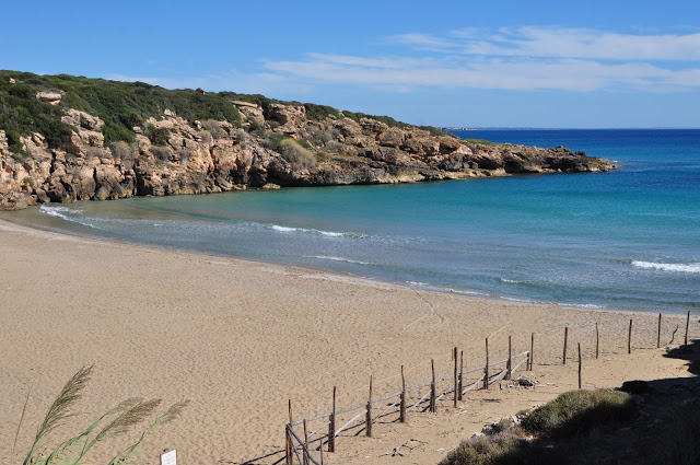 Calamosche beach, syracuse, one of the most beautiful beaches in sicily, italy