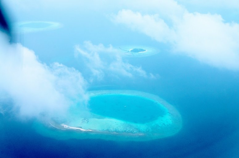 Atolls in the Maldives