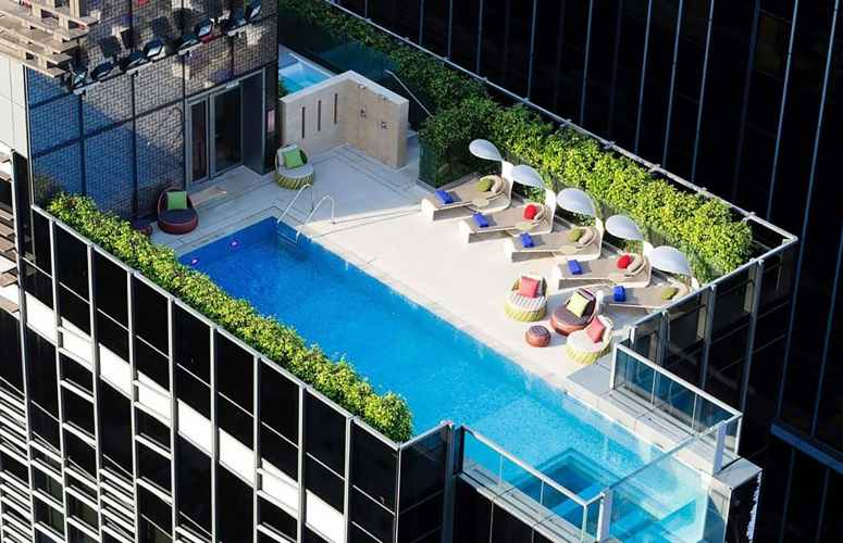Amazing rooftop pool at Indigo Hotel Hong Kong