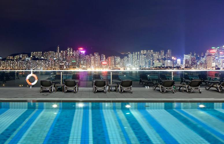Hong Kong, Hotel Icon, pool
