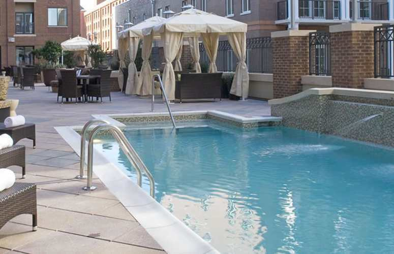 The outdoor pool at the Andaz Savannah Hotel