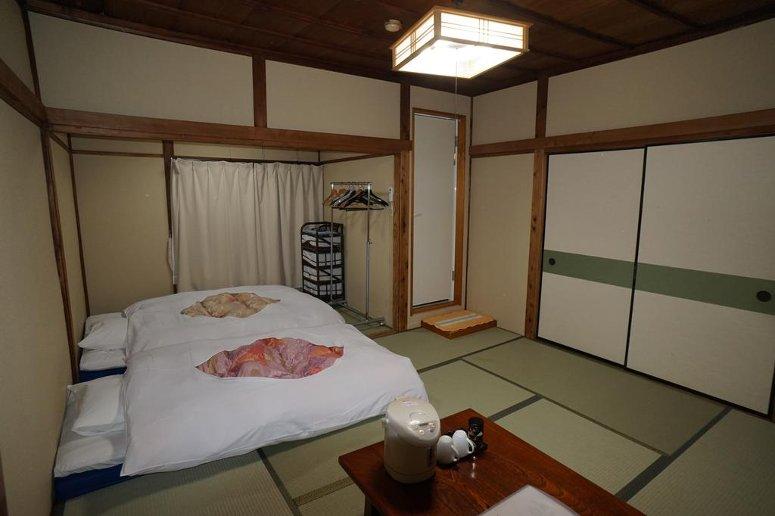 Tradition Japanese bedroom at Hotel Ryokan Katsutaro in Tokyo