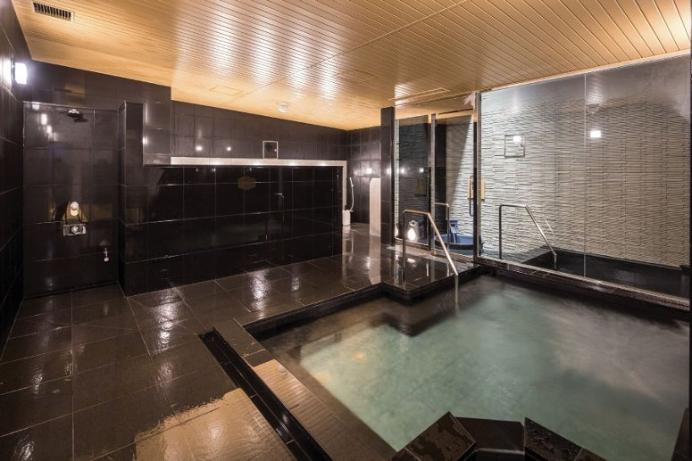 The public bath or onsen at Apa Hotel Shinjuku Gyoemmae