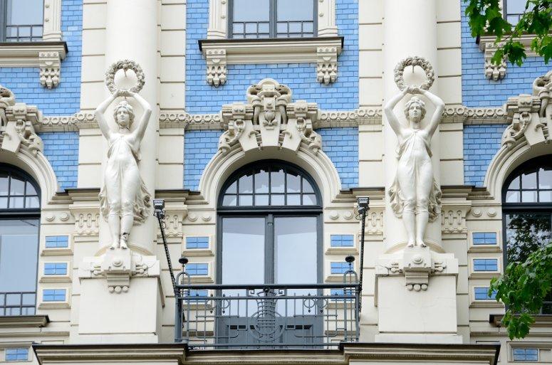 Riga's art nouveau district.