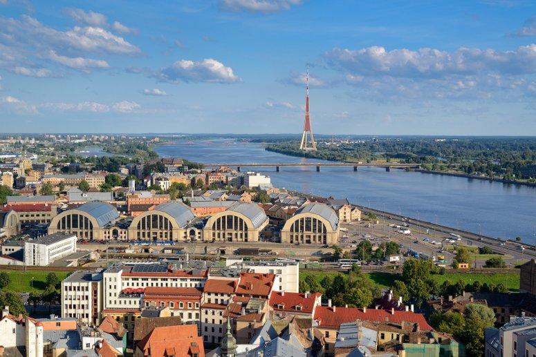 Enjoy some shopping at the central market of Riga, Latvia.
