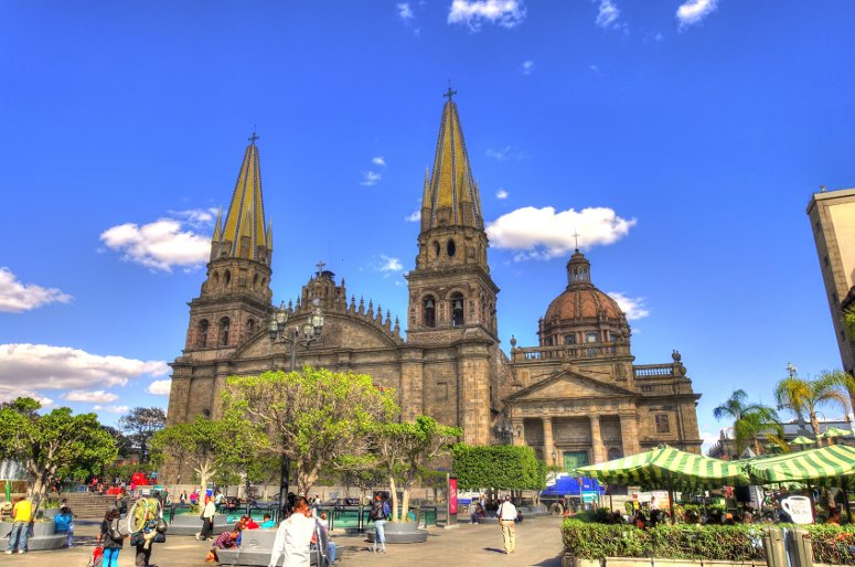 The Cathedral of Guadalajara.