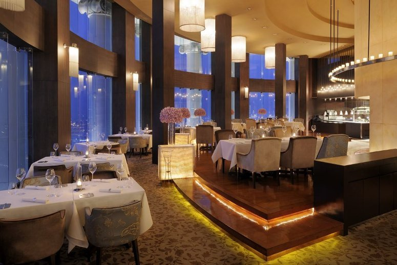 Mezzaluna restaurant, on the 65th floor at Tower Club at Lebua, Bangkok.