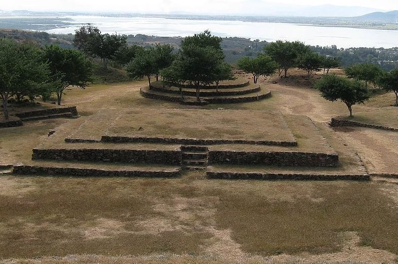 One of the circular pyramid-structures at Guachimontones.