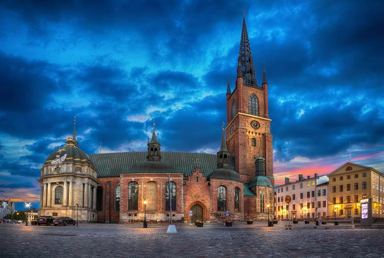 Riddarholm church in Stockholm.