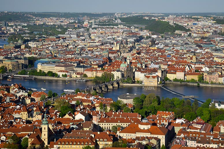 3 Days in Prague: the view from Petrin Tower